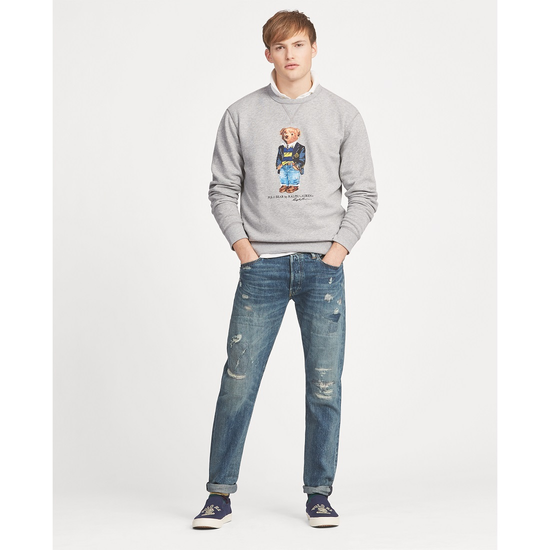edb5d4c823d8 Sweat Polo Bear preppy en molleton Polo Ralph Lauren - Sweat Homme ...