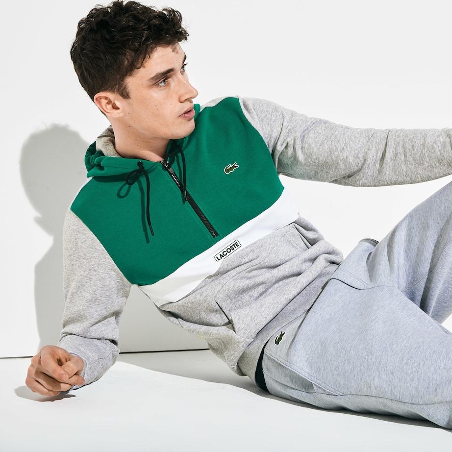 États Unis toujours populaire divers styles Sweatshirt zippé à capuche Lacoste SPORT en molleton color ...