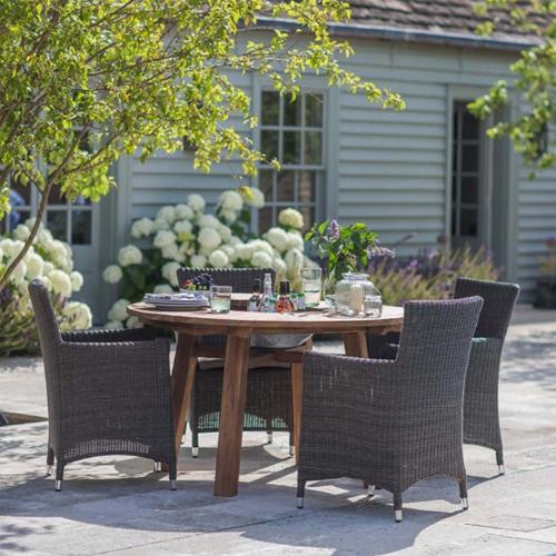 Table de jardin en teck recyclé St Mawes - Table de jardin Decoclico ...