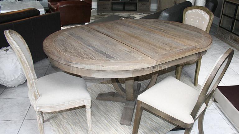 Table Ronde Extensible De Salon En Bois Helise Table De