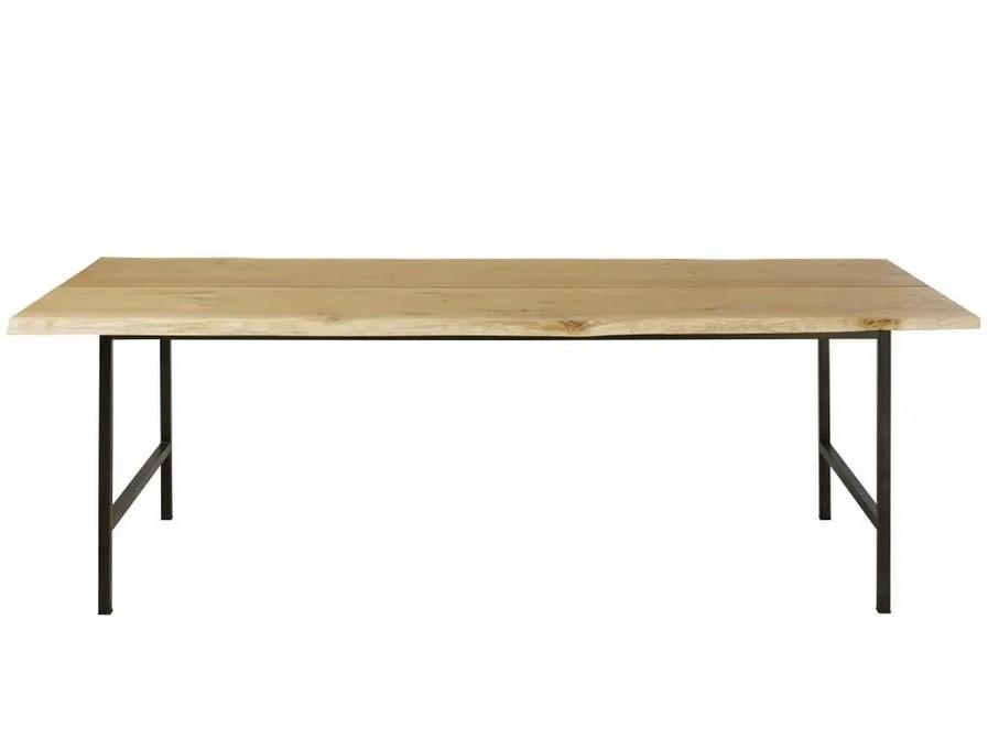 Table à manger 8 personnes Magnus en chêne massif et métal noir - Maisons du Monde