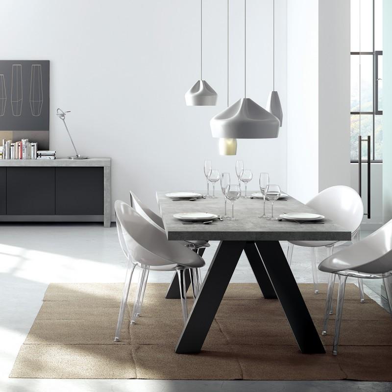Table Béton Atylia À Manger Ciré Design Aspect Apex 0kwPnO
