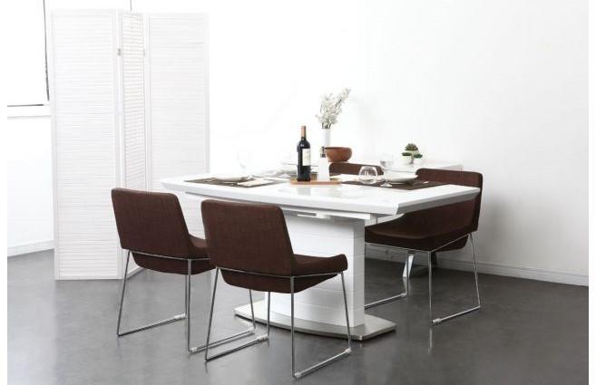 table manger design noyer louna table manger miliboo pas cher. Black Bedroom Furniture Sets. Home Design Ideas