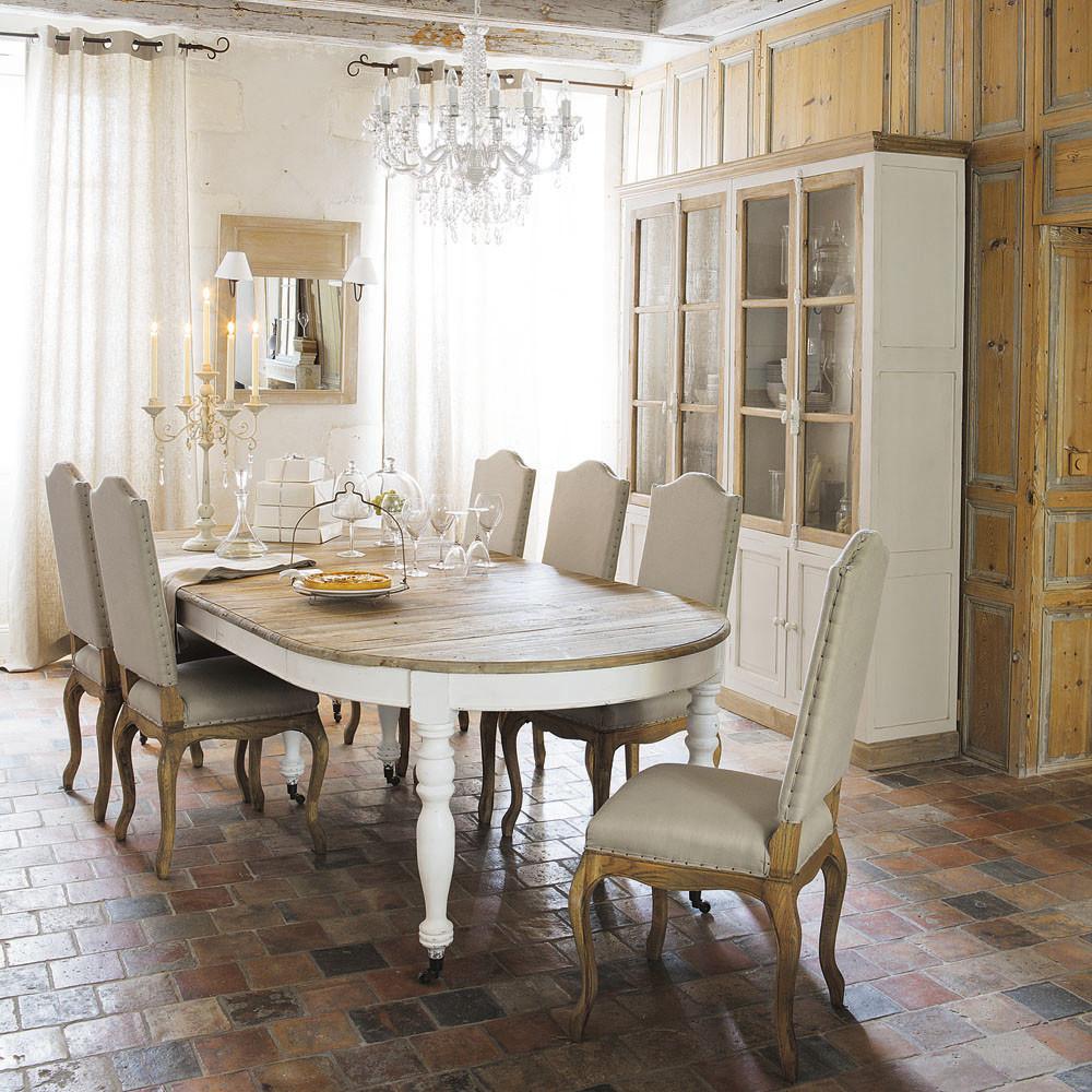 Table à manger extensible Provence à roulettes 6 à 14 personnes ...