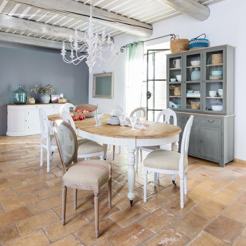 Table Extensible Maison Du Monde.Table A Manger Extensible Provence A Roulettes 6 A 14 Personnes