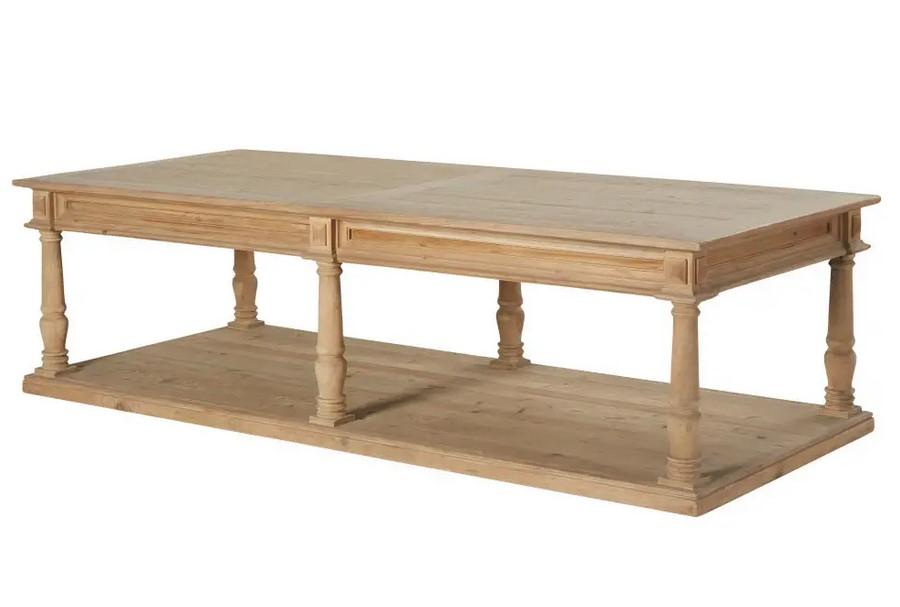 Table basse Mahault 2 plateaux 6 pieds sculptée - Maisons du Monde