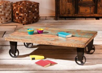table basse camif table basse roulettes vintage. Black Bedroom Furniture Sets. Home Design Ideas