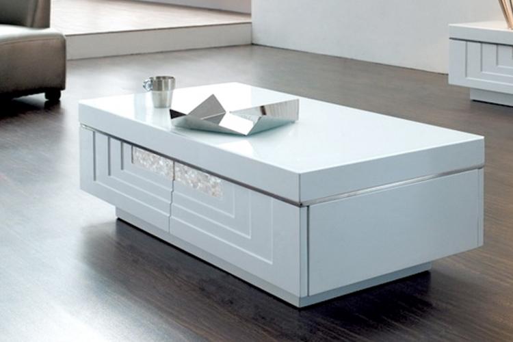 table basse laqu blanc sur iziva izivacom - Table De Salon Blanc Laque