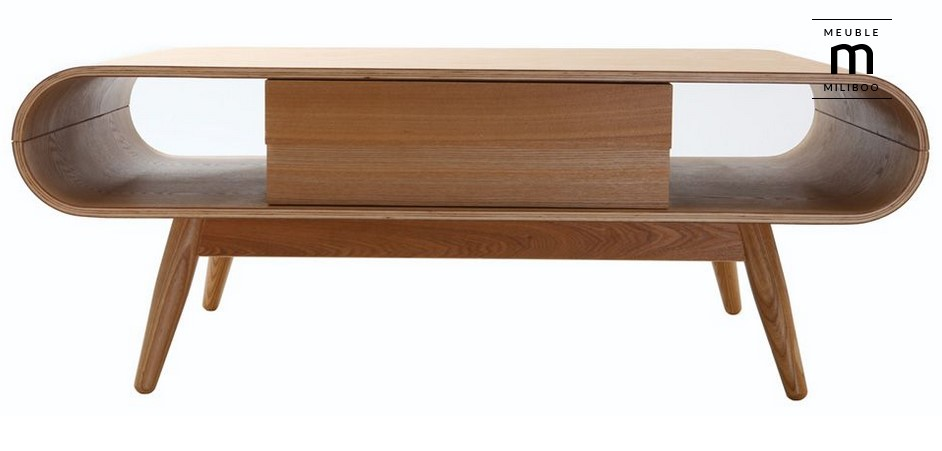 Table basse scandinave bois naturel BALTIK pas cher - Table ...