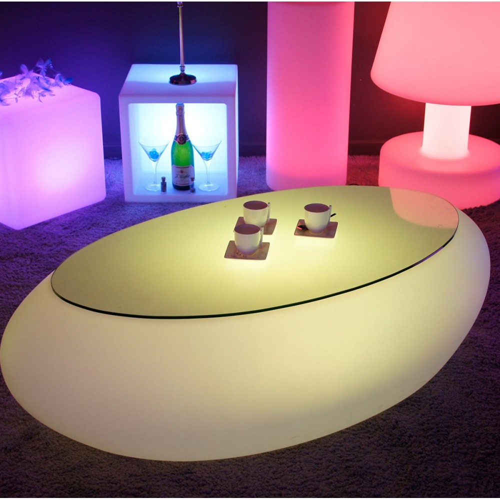 Basse Table Livedeco Stone Multicolore Led QCthrsdx