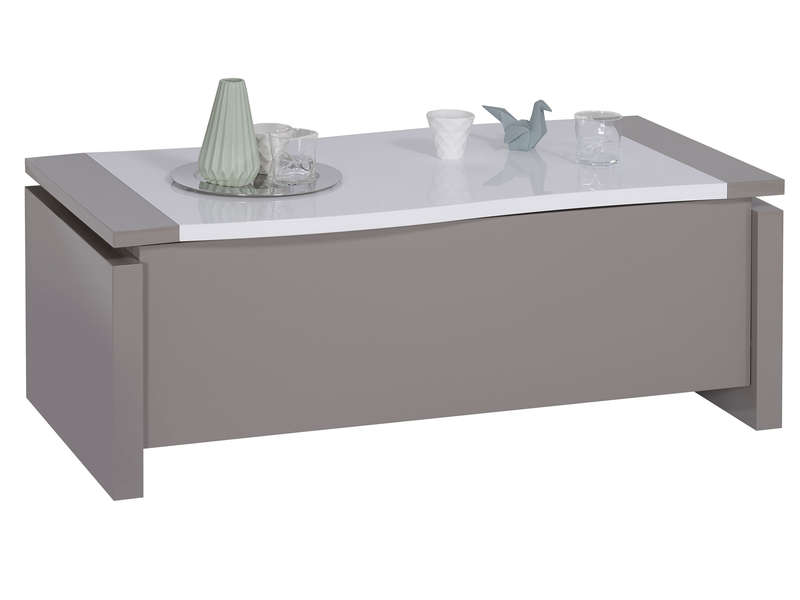 design de qualité 1bdb9 33a90 Table basse rectangulaire RIALTO avec plateau relevable - Table basse  Conforama