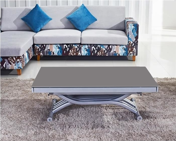 Table Basse Relevable Reality Verre Gris Pas Cher Table