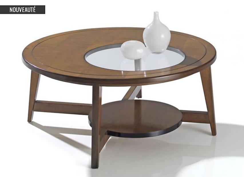 Table basse ronde en verre trempé Mercure Camif - Table basse Camif ...