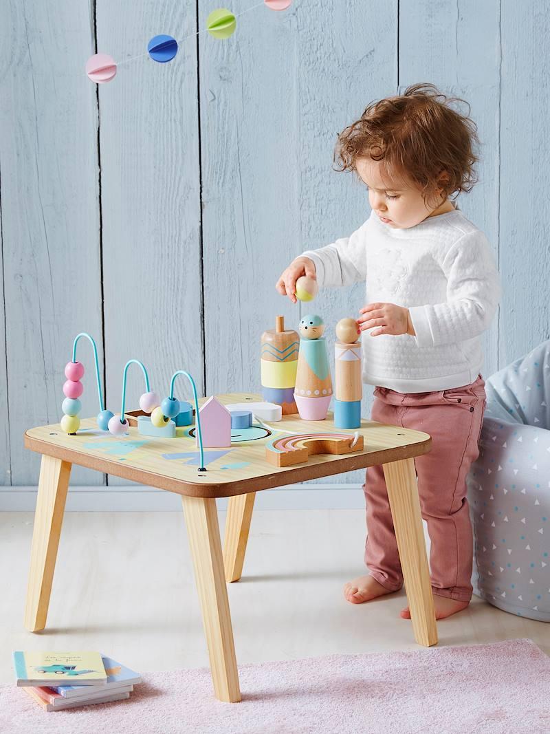 Tapis De Motricité Pas Cher table d'activités petits sioux pas cher - jouets vertbaudet