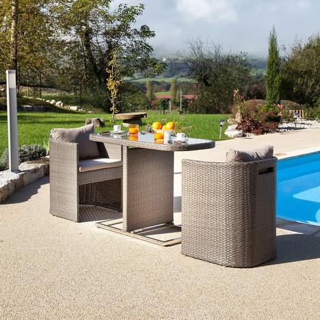 Petite Table Bari 3 - Table de Jardin Alinéa - Iziva.com