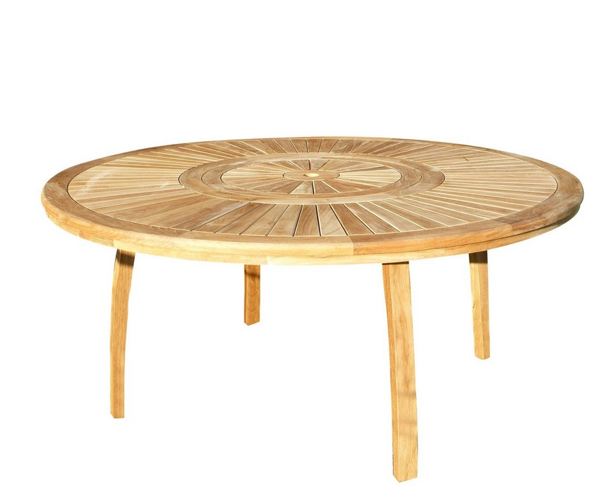 table de jardin orion ronde naturel 8 personnes table de jardin leroy merlin. Black Bedroom Furniture Sets. Home Design Ideas