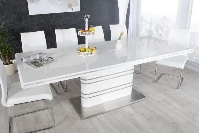 De Repas Losane Extensible Blanc Design Table OikTPXZu