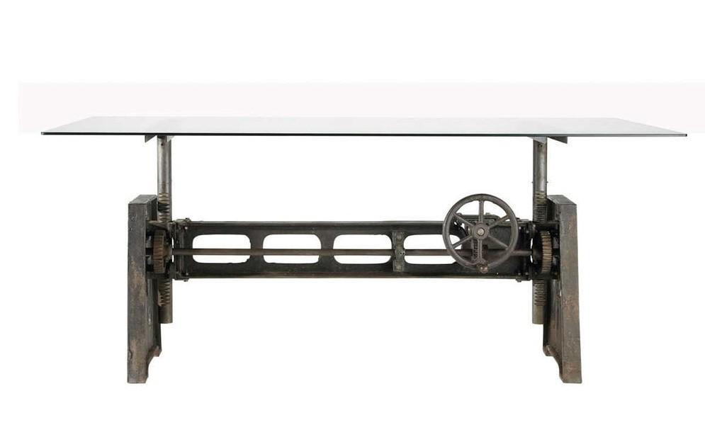 Table De Salle A Manger En Verre Et Metal Garibaldi Table De Salle
