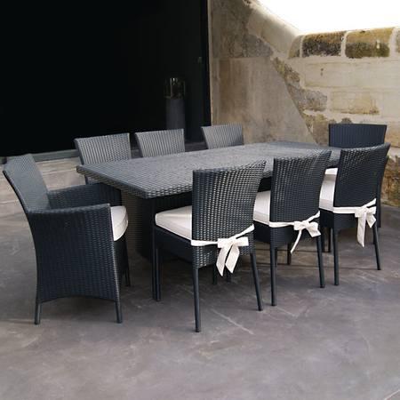 Table et chaise de jardin 6 places paladia soldes maison - Table plus chaise de jardin pas cher ...