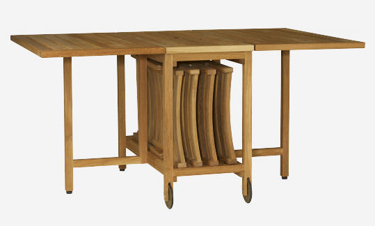 Table de jardin habitat zeno table pliante en ch ne massif huil - Table de salon pliante ...