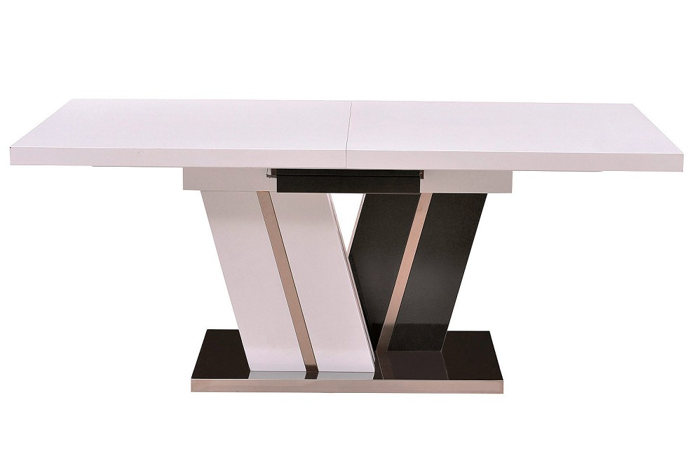 Table Extensible Stellar Blanc Et Noir Pas Cher Table But