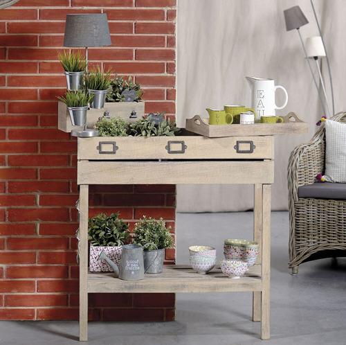 table potag re en manguier indoor chaumont jardin d 39 ulysse console decoclico. Black Bedroom Furniture Sets. Home Design Ideas