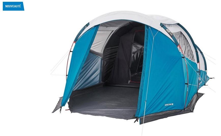 0cbcb831d Tente de camping à arceaux ARPENAZ 4.1 FRESH BLACK QUECHUA pas cher ...