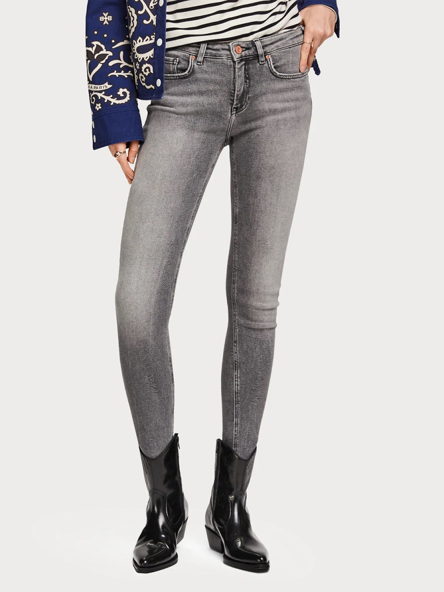 Scotch & Soda La Bohemienne Jeans The Great Grey Mid rise skinny fit