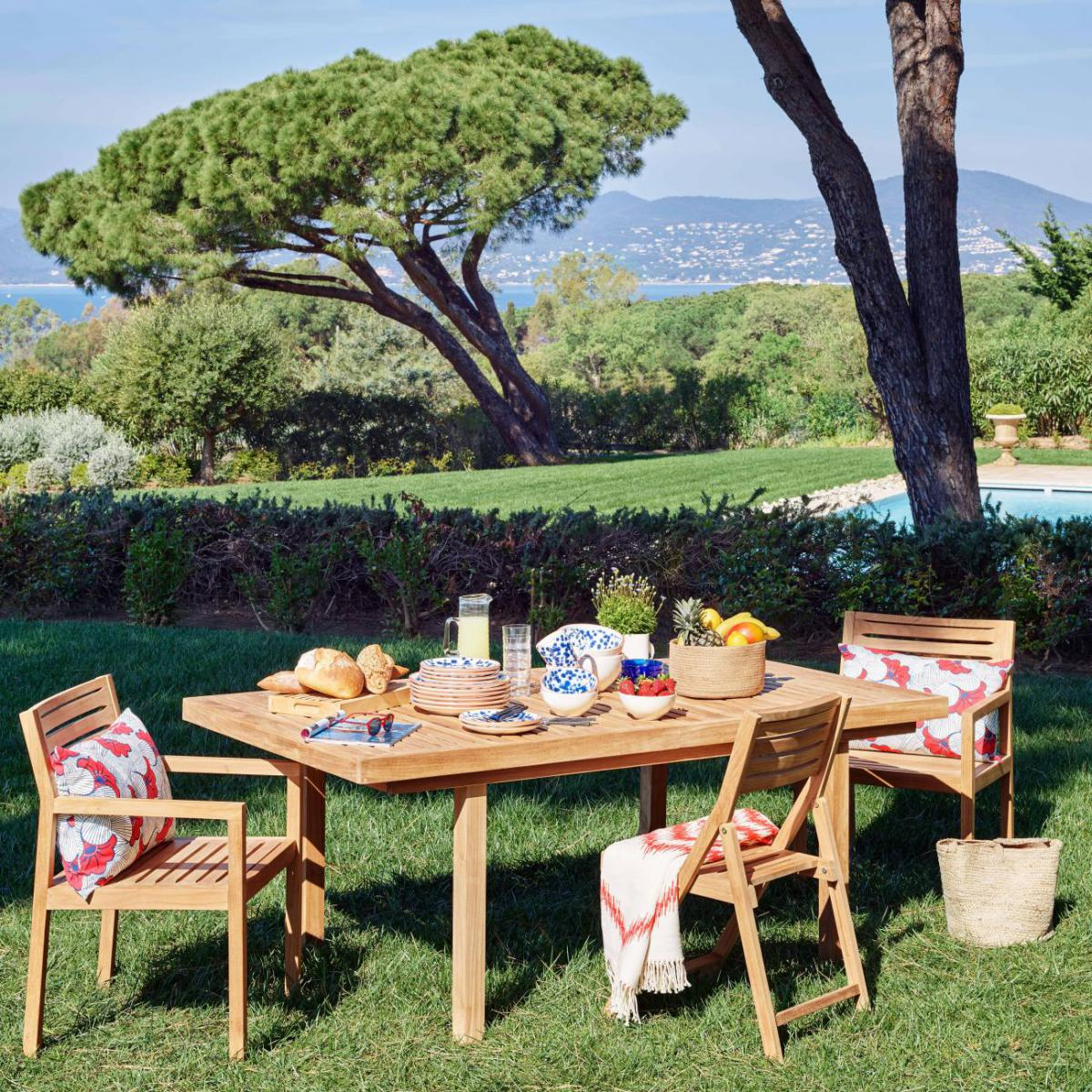 Table de Jardin en Teck Sur Iziva - Iziva.com