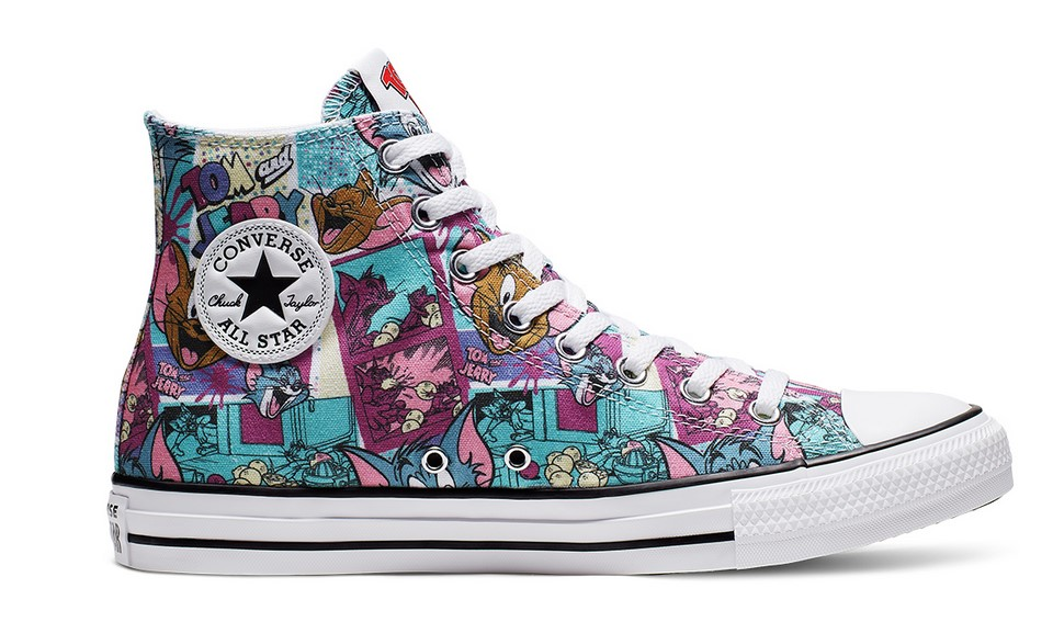Converse Tom and Jerry Chuck Taylor All Star High Top white/multi/black