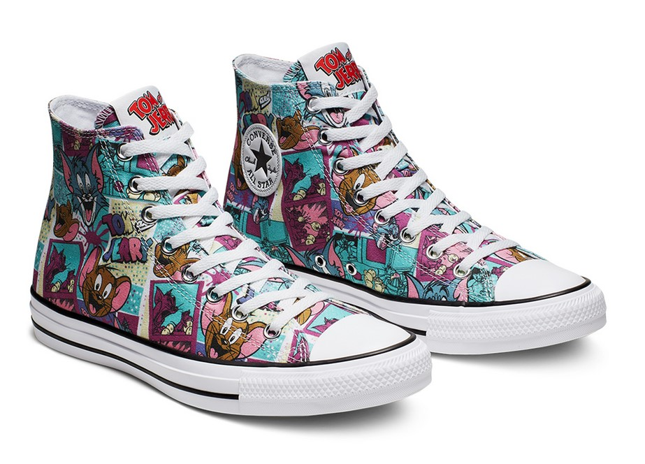 Converse Tom and Jerry Chuck Taylor All Star High Top white/multi/black pour Femme