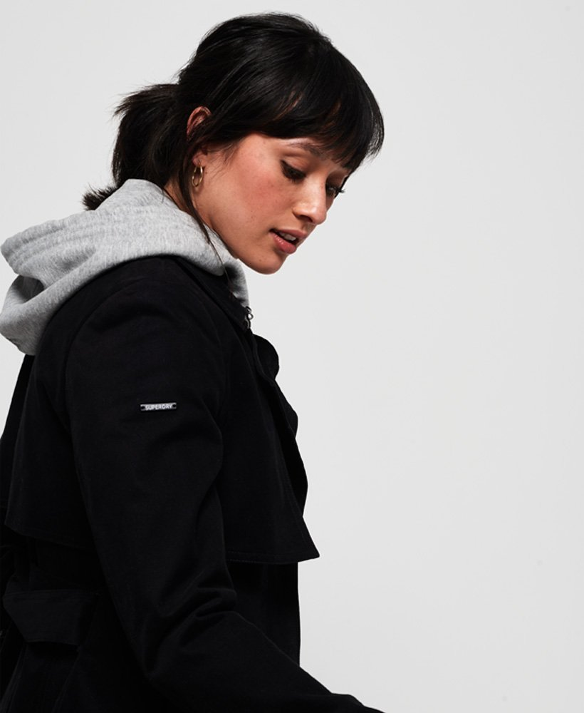 Superdry Trench-coat Sirena Noir pour femme