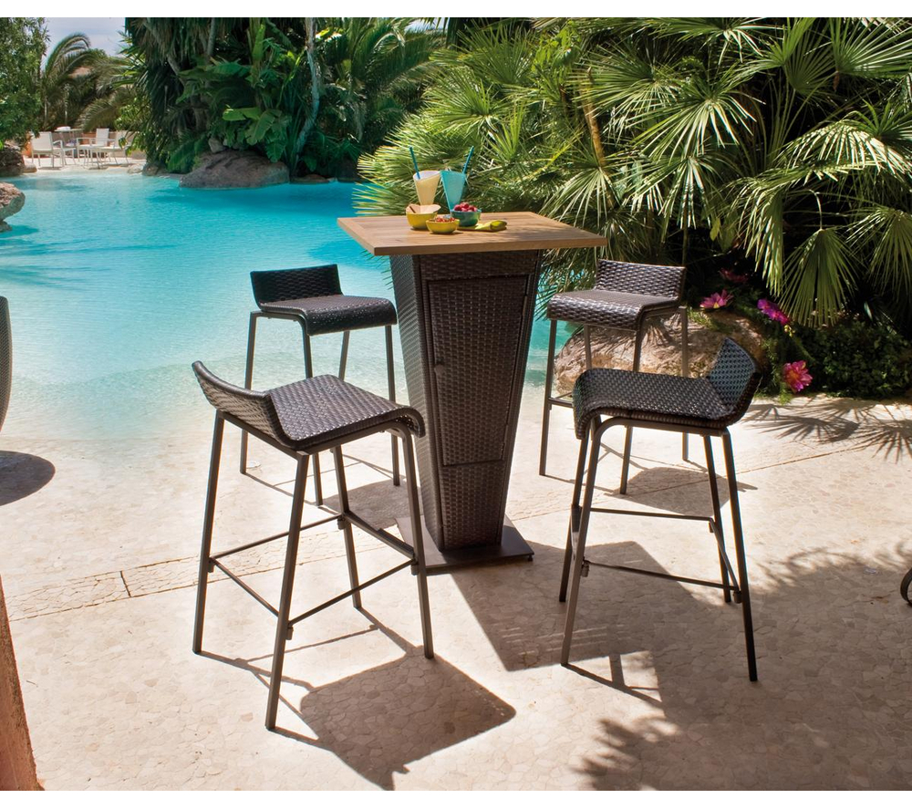 Salon de jardin Carrefour - Set bar table + 4 chaises prix 231,99 ...