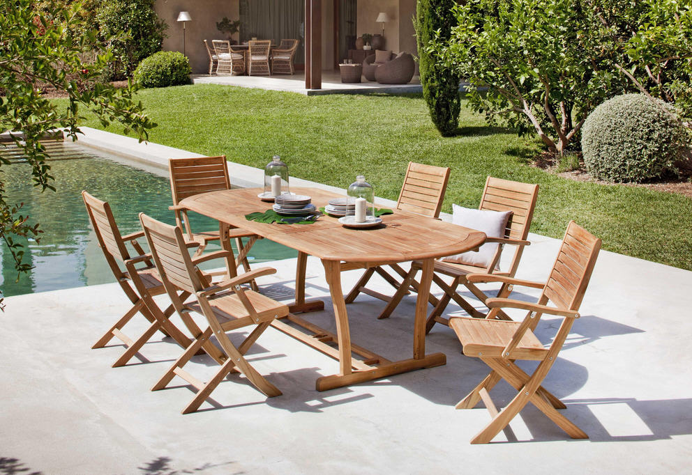 Soldes Table de Jardin Carrefour, CARREFOUR Table extensible Costa ...