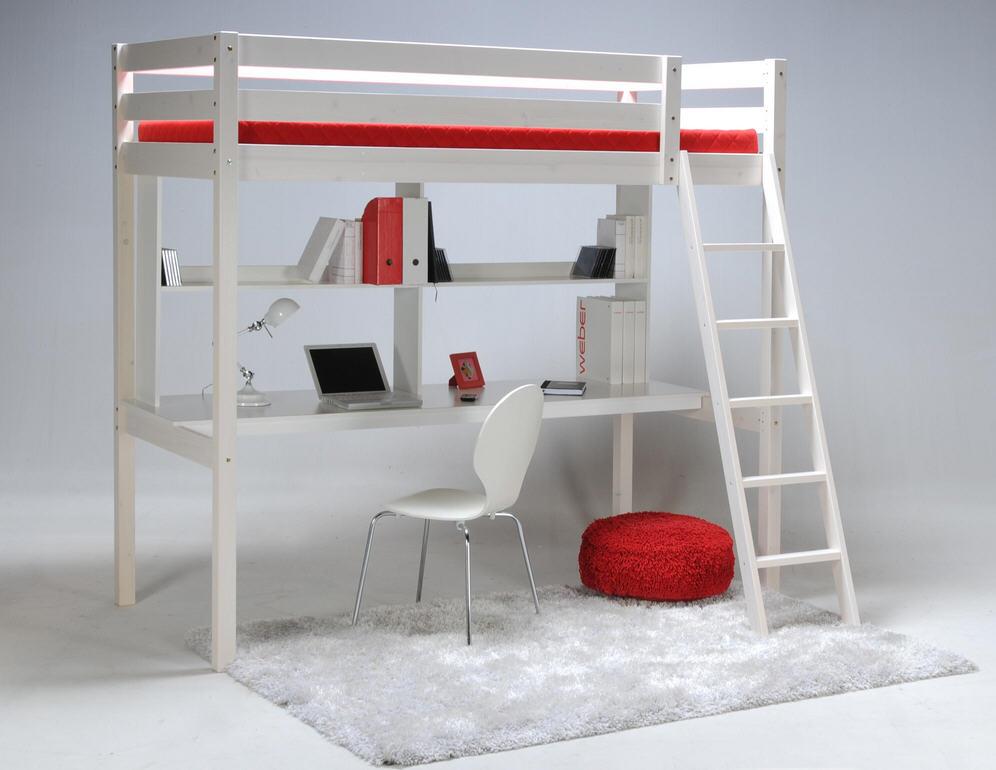 Lit mezzanine carrefour ensemble lit mezzanine et bureau étagère