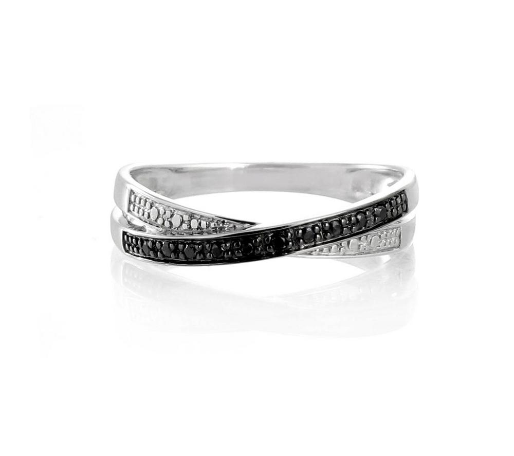 bague diamant noir et blanc histoire d'or