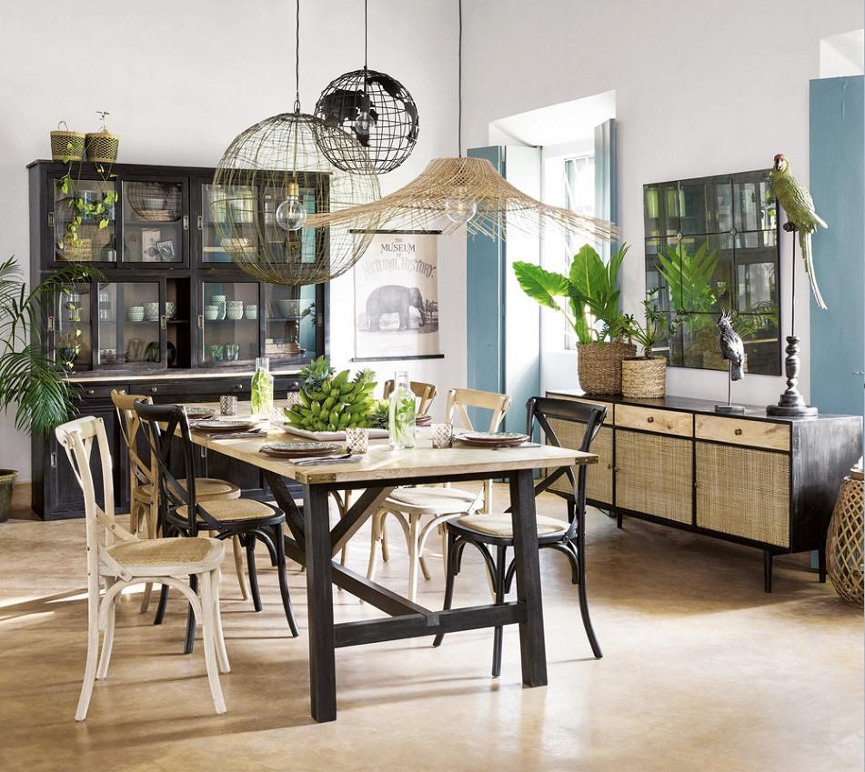 vaisselier vitr 8 portes flaubert vaisselier maisons du monde. Black Bedroom Furniture Sets. Home Design Ideas