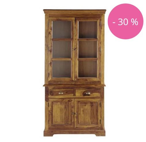 vaisselier en bois de sheesham massif luberon soldes vaisselier maisons du monde. Black Bedroom Furniture Sets. Home Design Ideas