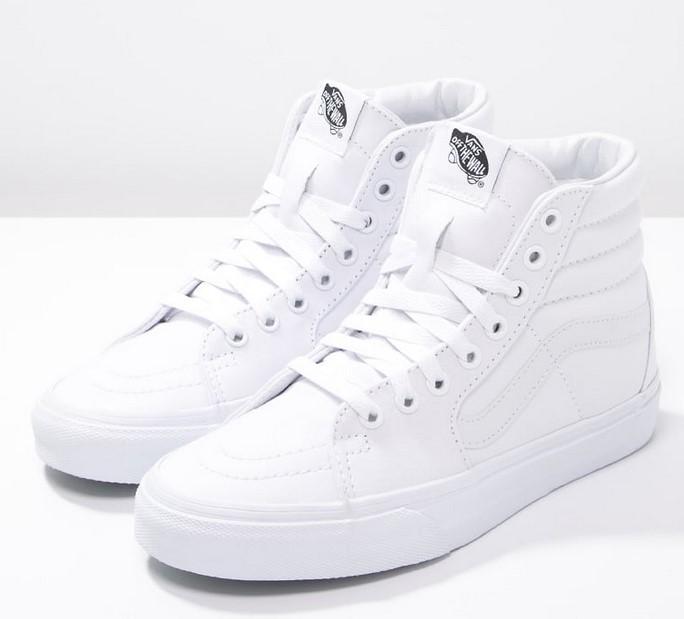 True White Montantes Vans Femme Baskets Sk8 Hi bvYfgy67