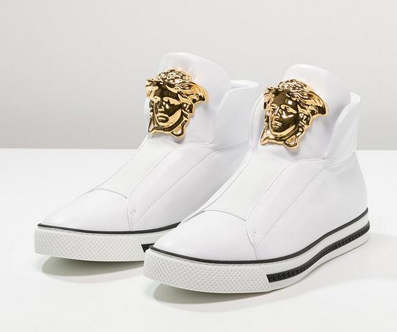 Versace PALAZZO Baskets montantes bianco oro, Baskets Homme Versace Zalando c0311eb02ef