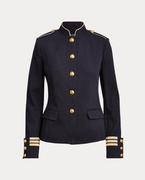 Ralph Lauren Veste d'officier en coton mélangé Marine