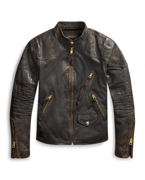 Ralph Lauren RRL Veste en cuir brun pour Femme