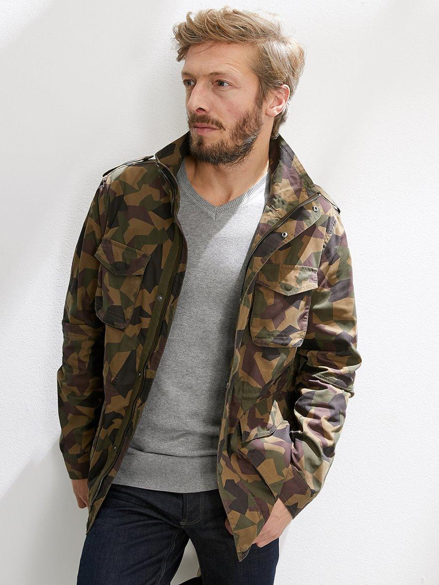 Saharienne Cyrillus Homme Imprimé Veste Camouflage UdBgqw