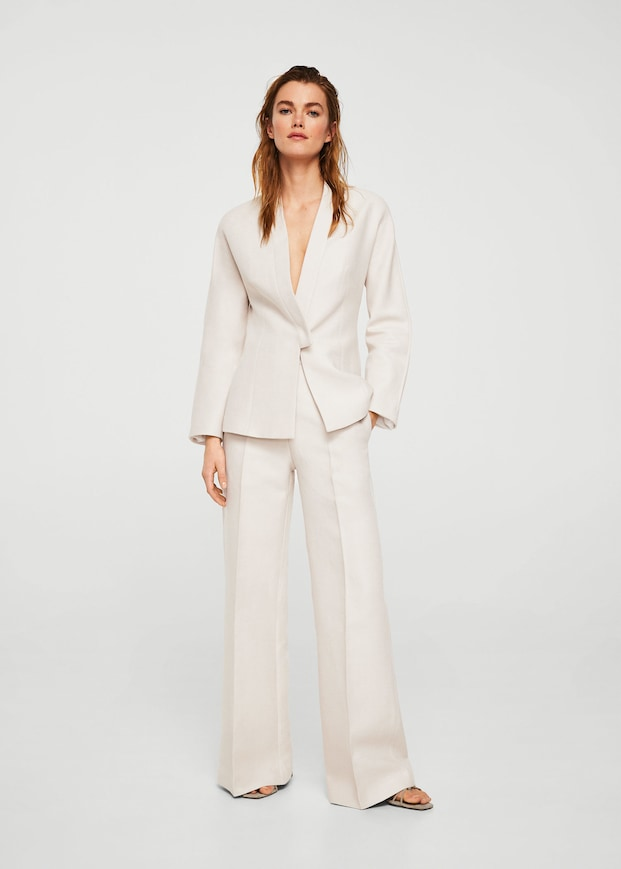 Mango Veste style blazer lin Committed