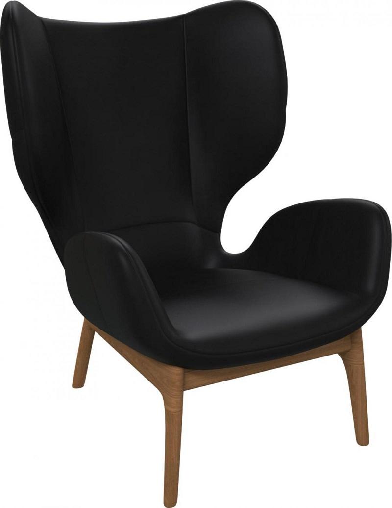 taille 40 a8346 8727c Victorine Fauteuil en cuir aniline Pullman soft black ...
