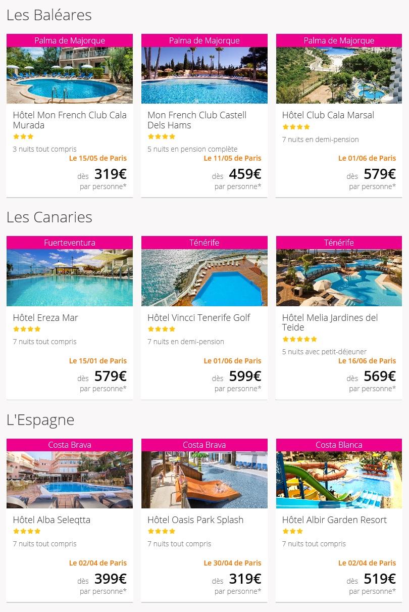 Voyage en Espagne et ses îles à petits prix