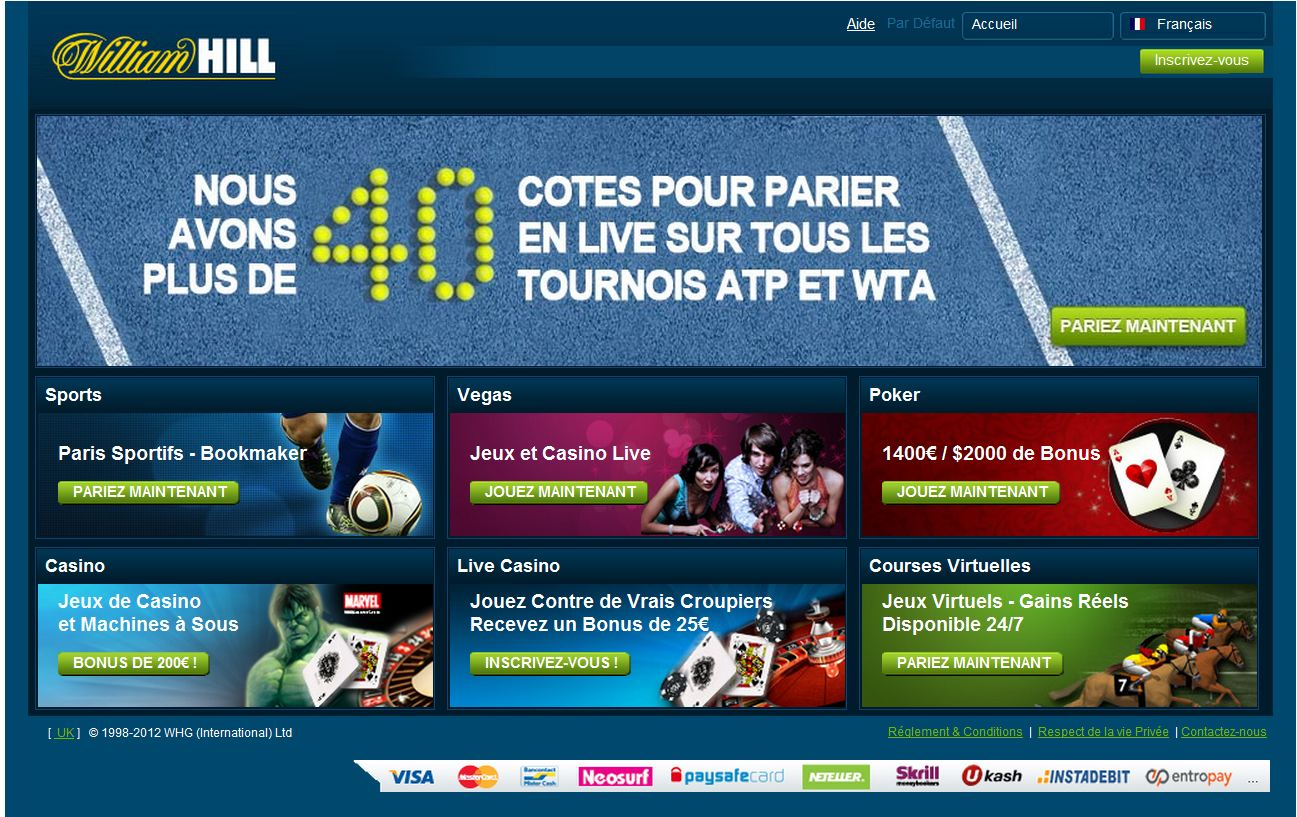 William Hill paris sportifs en ligne