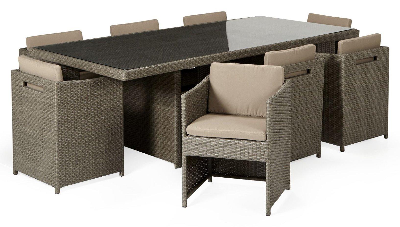 Ensemble de table de jardin avec 5 fauteuils Yvoire - Salon de