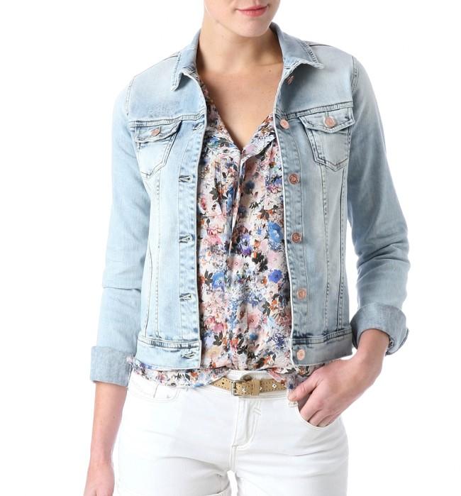 veste en jeans promod jean delave femme