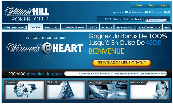 39. William Hill Poker Bonus Poker de 100% jusqu à 450 euros de Bienvenue   (Jeux ) ... s depuis 1934. William Hill bénéficie d une renommée  internationale ... b3854e30d69c